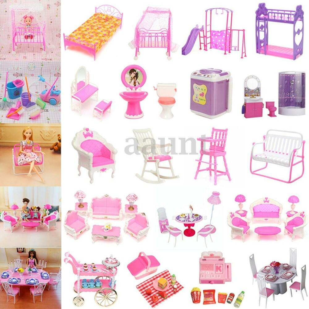 Miniature Dollhouse Toys Furniture Accessories For Barbie