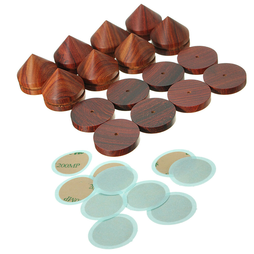 8pcs 23mm 0 91 Wooden Spikes Pads Rosewood Speaker