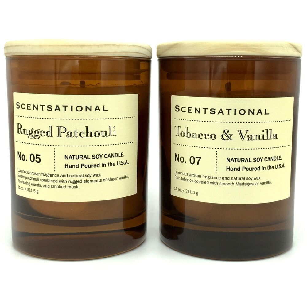 Scentsational tobacco vanilla and rugged patchouli scented for What are the best scented candles to buy