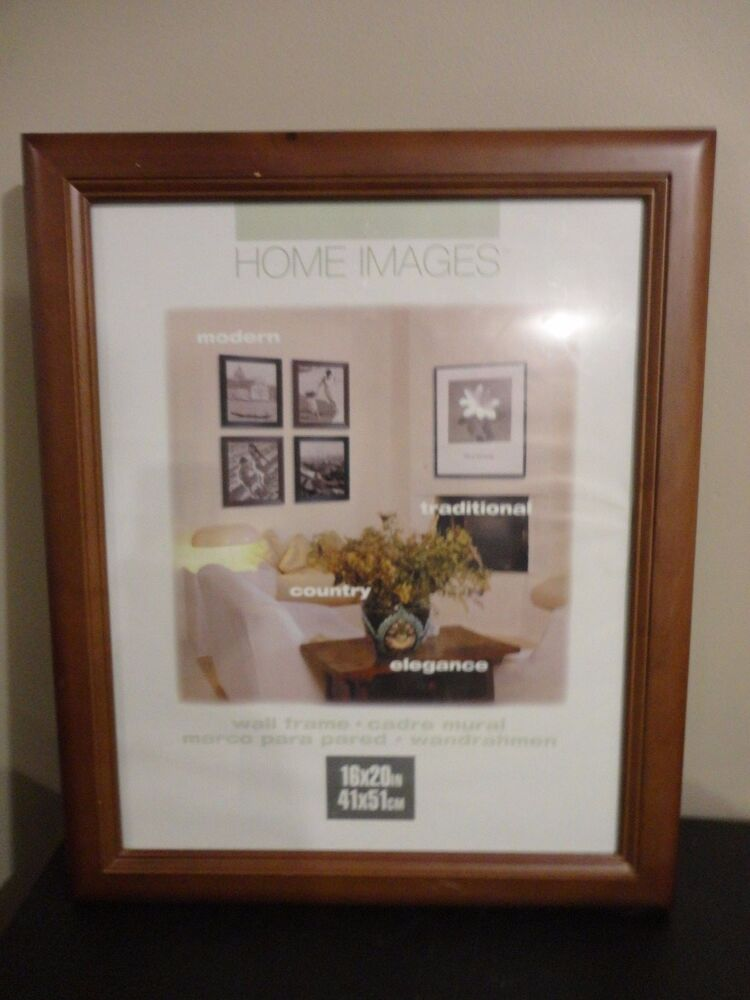 Home Images Cherry Wood Finish Wooden Wall Hanging Large Frame Ebay
