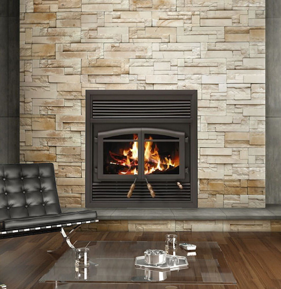 Flame Monaco Fl 063 Epa Zero Clearance Wood Burning Fireplace With Black Louvers Ebay
