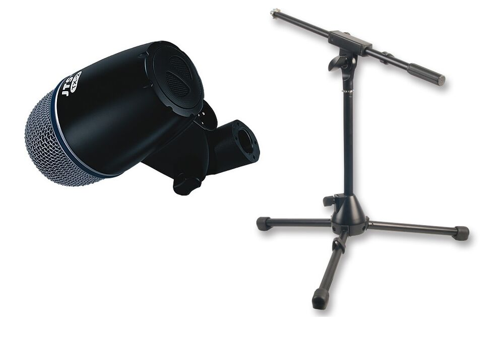 jts tx2 kick bass drum microphone with mini boom mic stand 4 5m xlr cable ebay. Black Bedroom Furniture Sets. Home Design Ideas