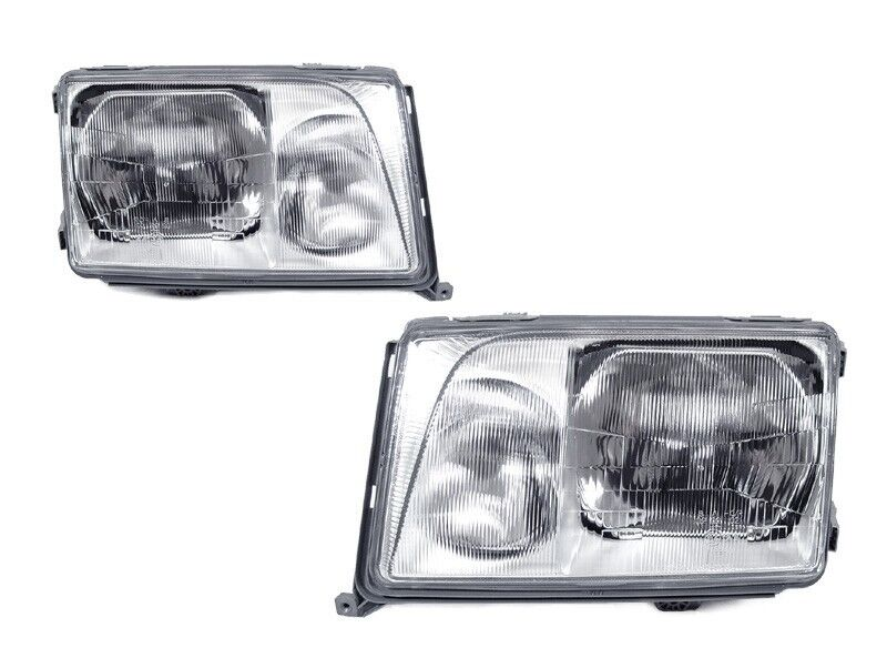 Depo 1994 1995 mercedes benz w124 euro glass headlights for Mercedes benz 190e headlights