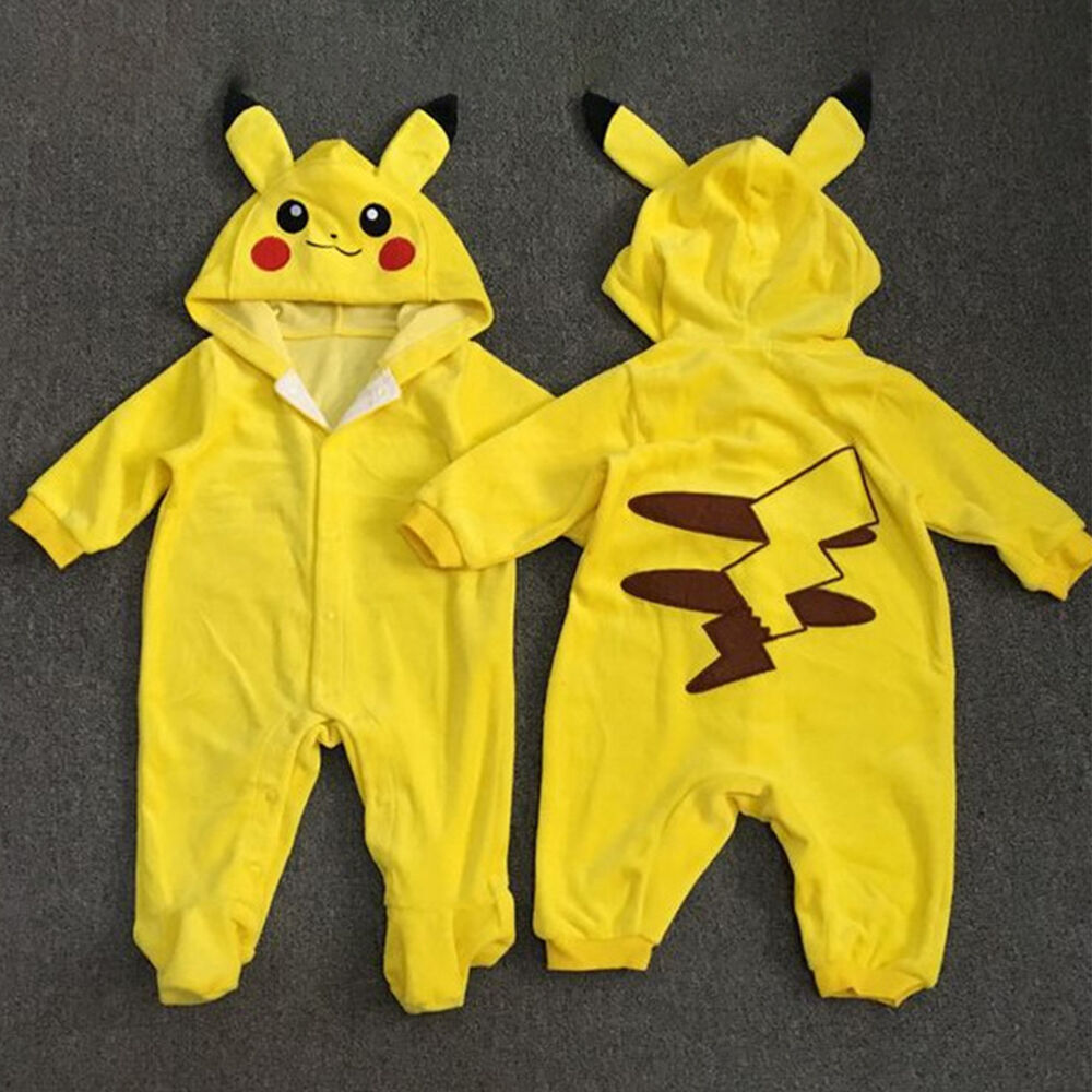 44f3df0f5 Details about Pokemon Newborn Baby Boys Girls Pikachu Outfit Jumpsuit  Rompers Playsuit Clothes