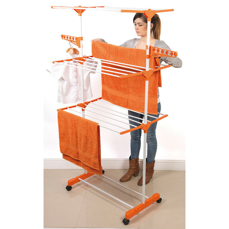 Foldable 3 Tier Deluxe Clothing Airer Indoor Or Outdoor Ebay