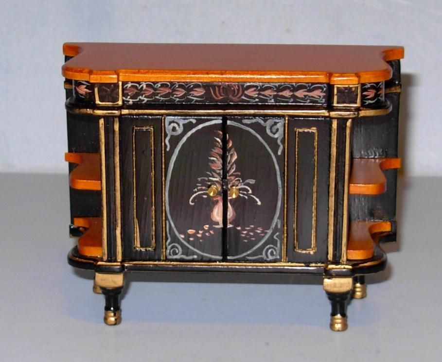 Chinoiserie Chest Hand Painted Doll House Furniture