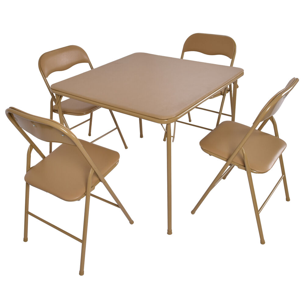 Bench Chairs Kitchen Tables And Chairs Ebay Free Kitchen: 5 PCS Folding Table Chair Set Guest Games Dining Room