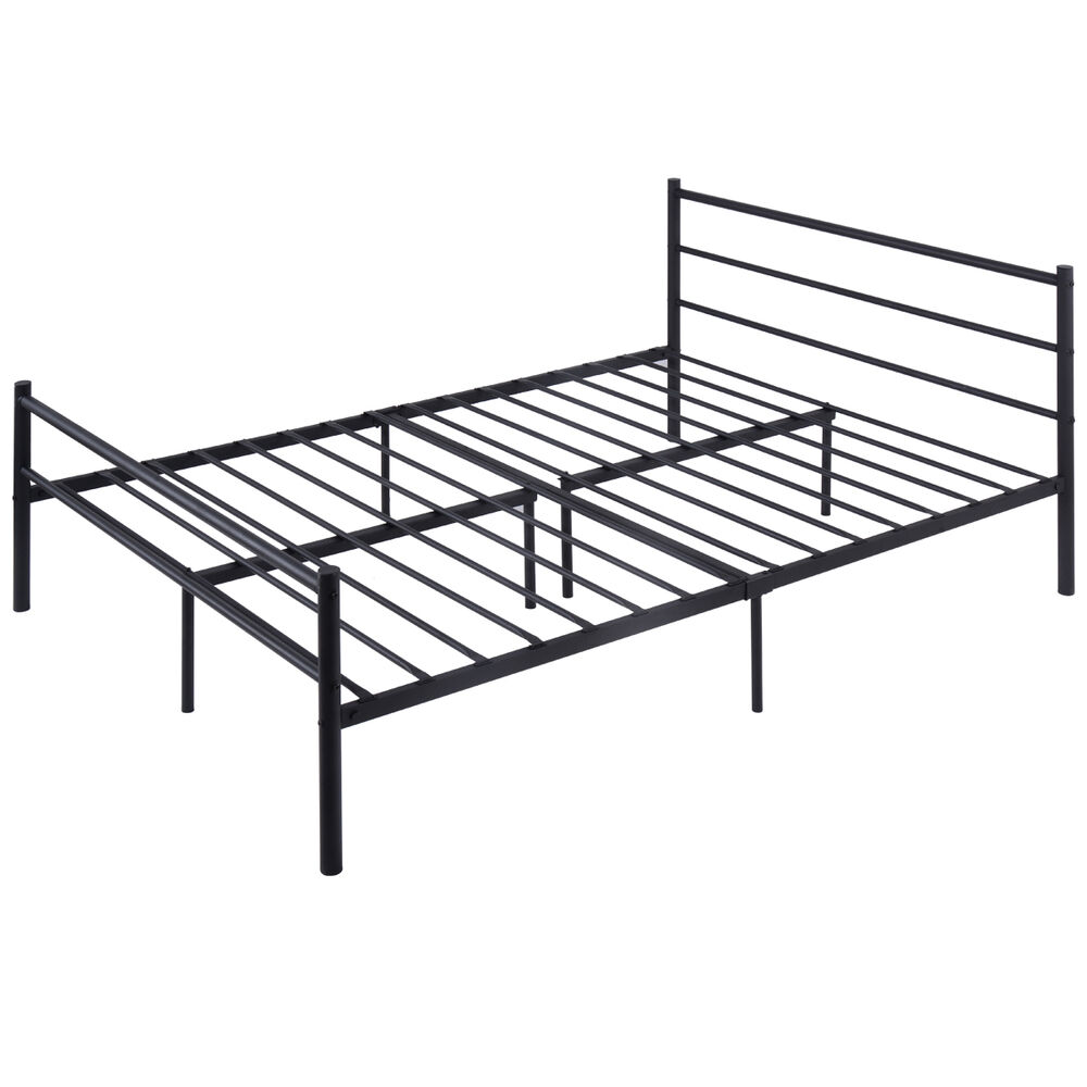 Full size metal bed frame platform headboard 10 legs for New bed frame