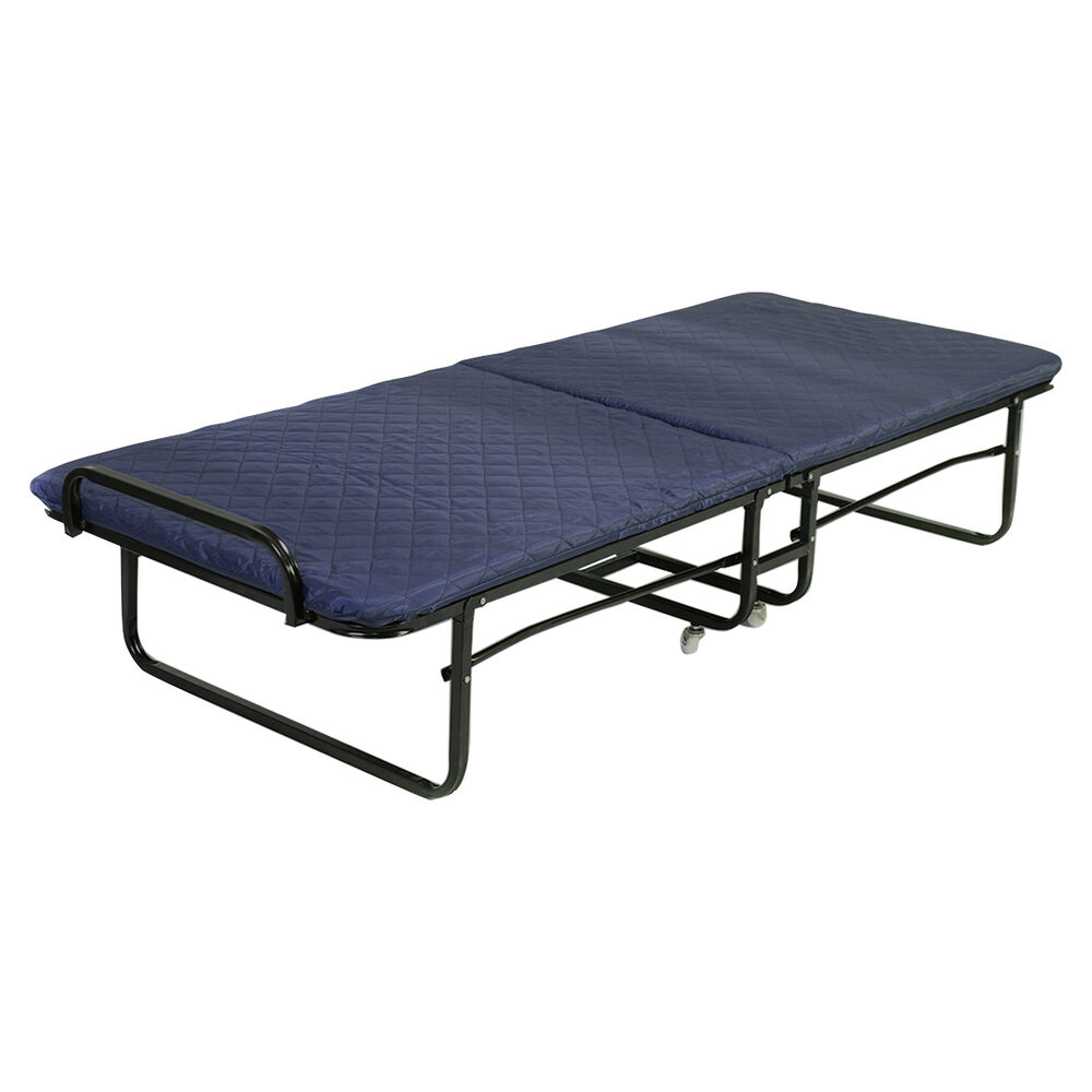 Folding bed foam mattress twin roll away guest portable for Futon portatil
