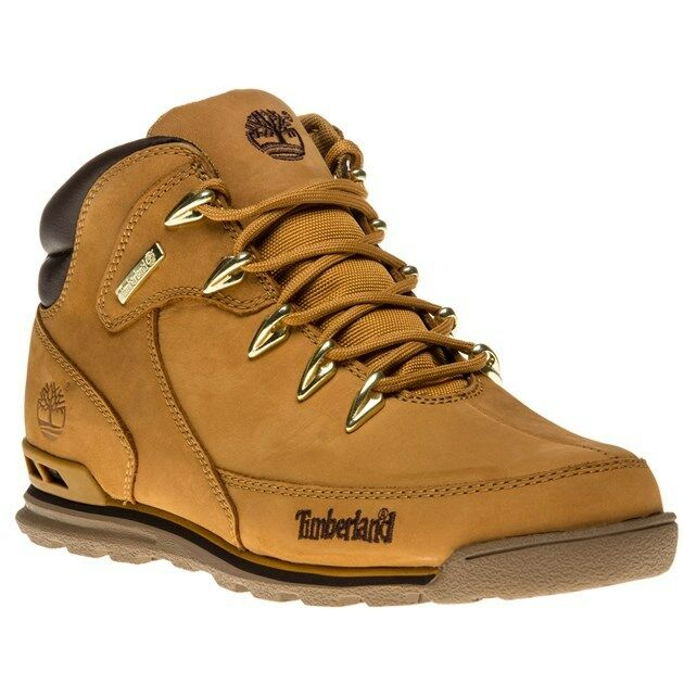 new mens timberland tan euro rock hiker nubuck boots lace up ebay. Black Bedroom Furniture Sets. Home Design Ideas