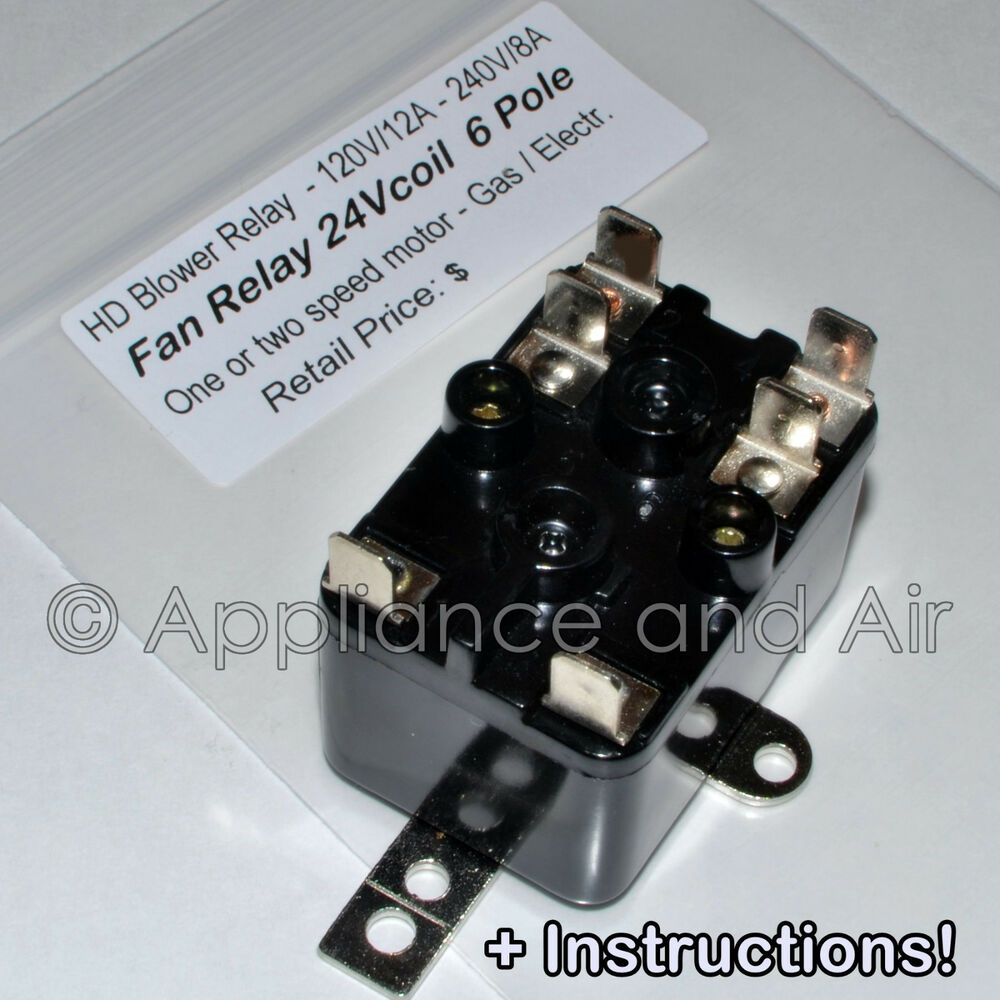 lennox furnace fan blower relay 13w13 repl 24v 6 pole. Black Bedroom Furniture Sets. Home Design Ideas