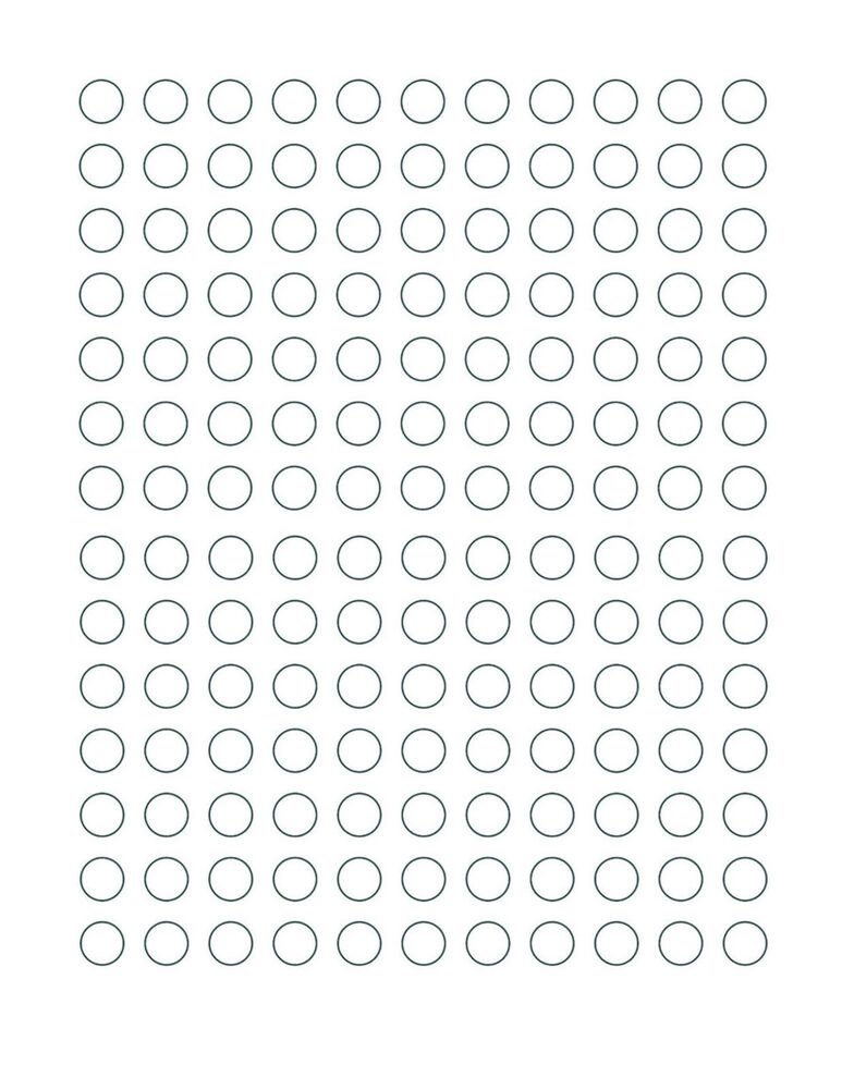 White coding dot stickers half inch 1 23939 semi gloss for Half inch round labels