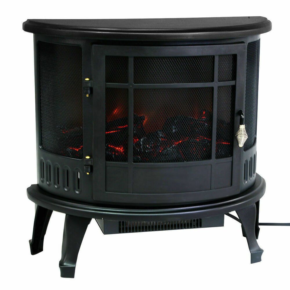 adjustable free standing electric 1500w fireplace heater. Black Bedroom Furniture Sets. Home Design Ideas