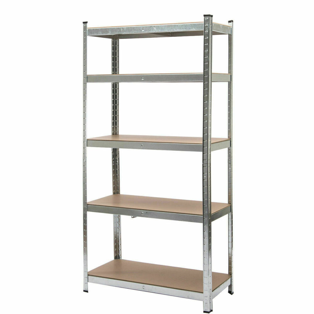 steel storage shelves 5 level heavy duty shelf garage steel metal storage rack 26782