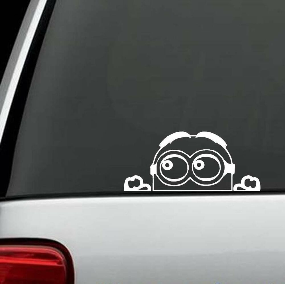 G1049 peeking minion decal sticker car truck suv van locker laptop boat surface ebay