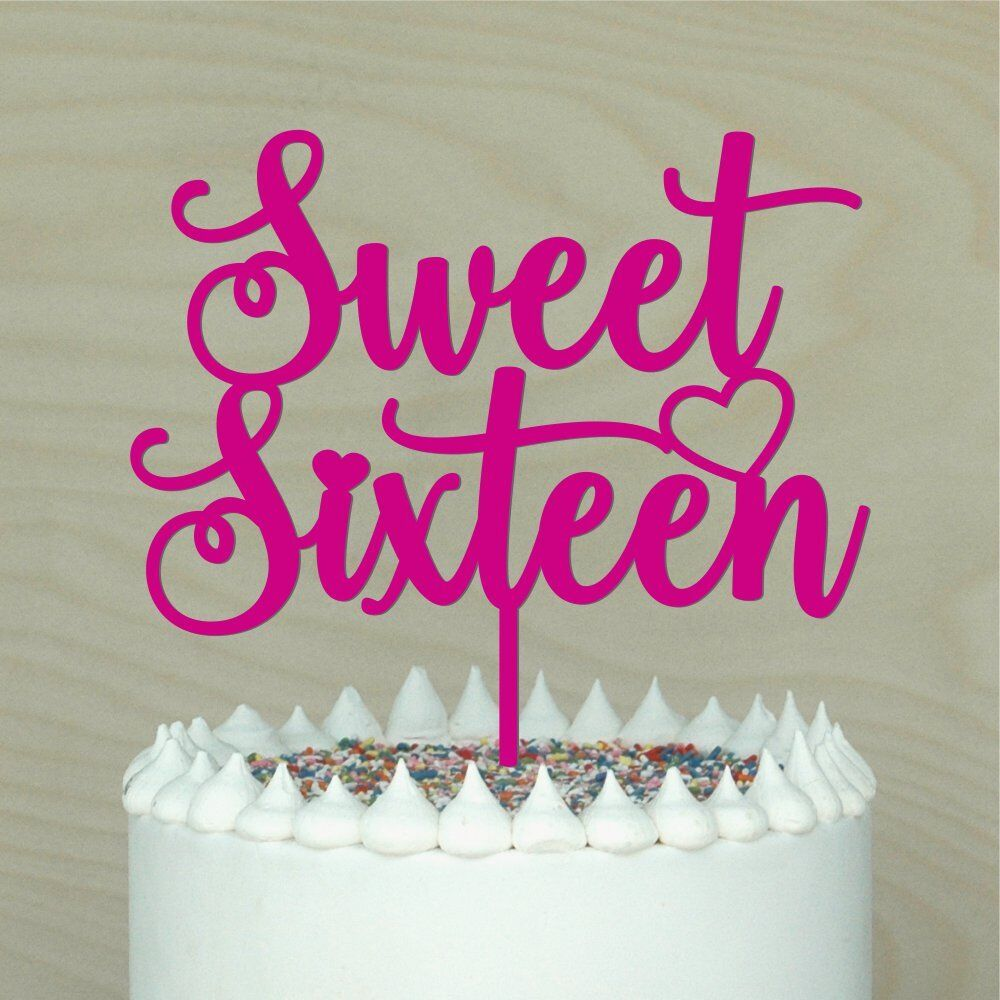 Details About Sweet Sixteen Cake Topper16th Happy Birthdaycake DecorLots Of Colours