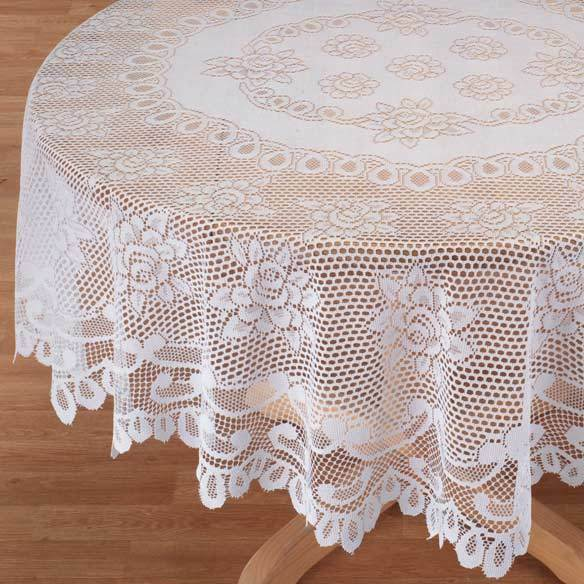 NEW Rose Floral Lace Round or Oblong Tablecloth Table  : s l1000 from www.ebay.com size 584 x 584 jpeg 67kB