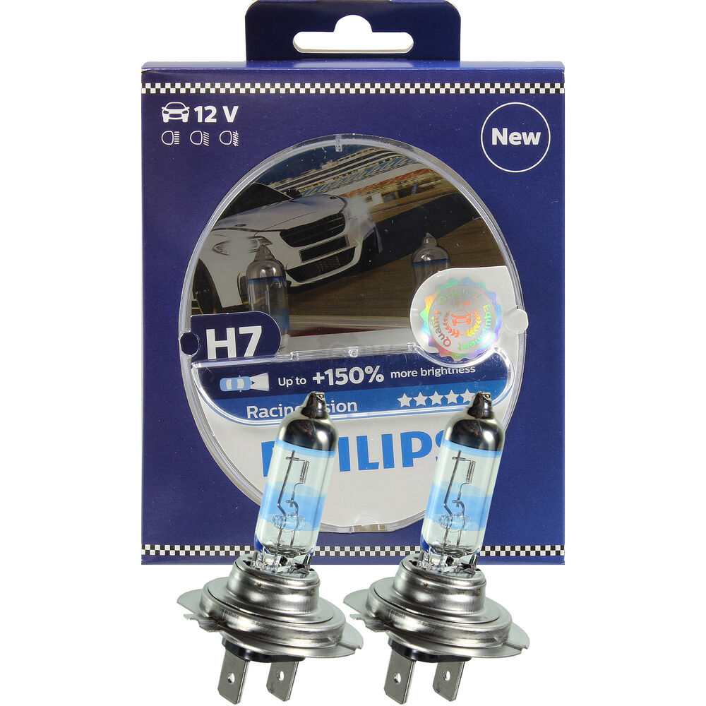 philips racing vision h7 12v 55w px26d 150 2 st ck set lampe birne 12972rvs2 ebay. Black Bedroom Furniture Sets. Home Design Ideas