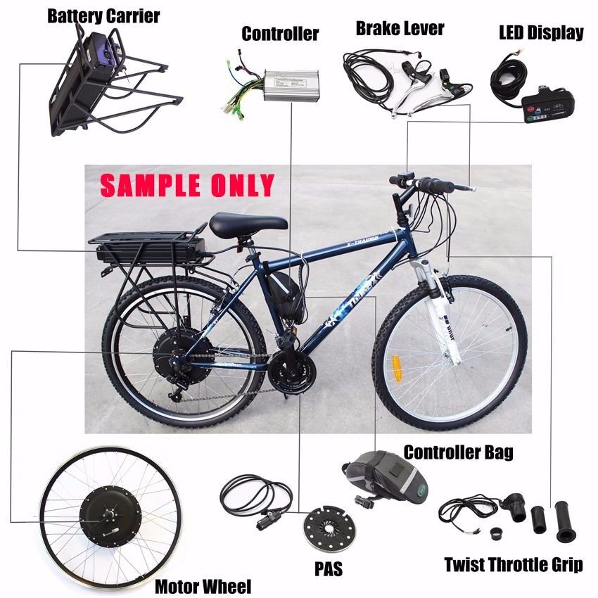 2017 electric bicycle ebike conversion e bike kit real for How to electric motorize a bicycle