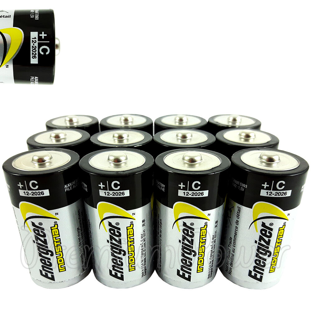 12 x energizer c size batteries 1 5v industrial lr14 mn1400 en93 baby exp 2026 ebay. Black Bedroom Furniture Sets. Home Design Ideas