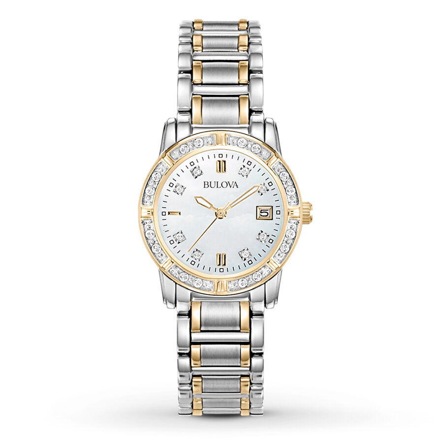 bulova s 98r107 accents quartz two tone