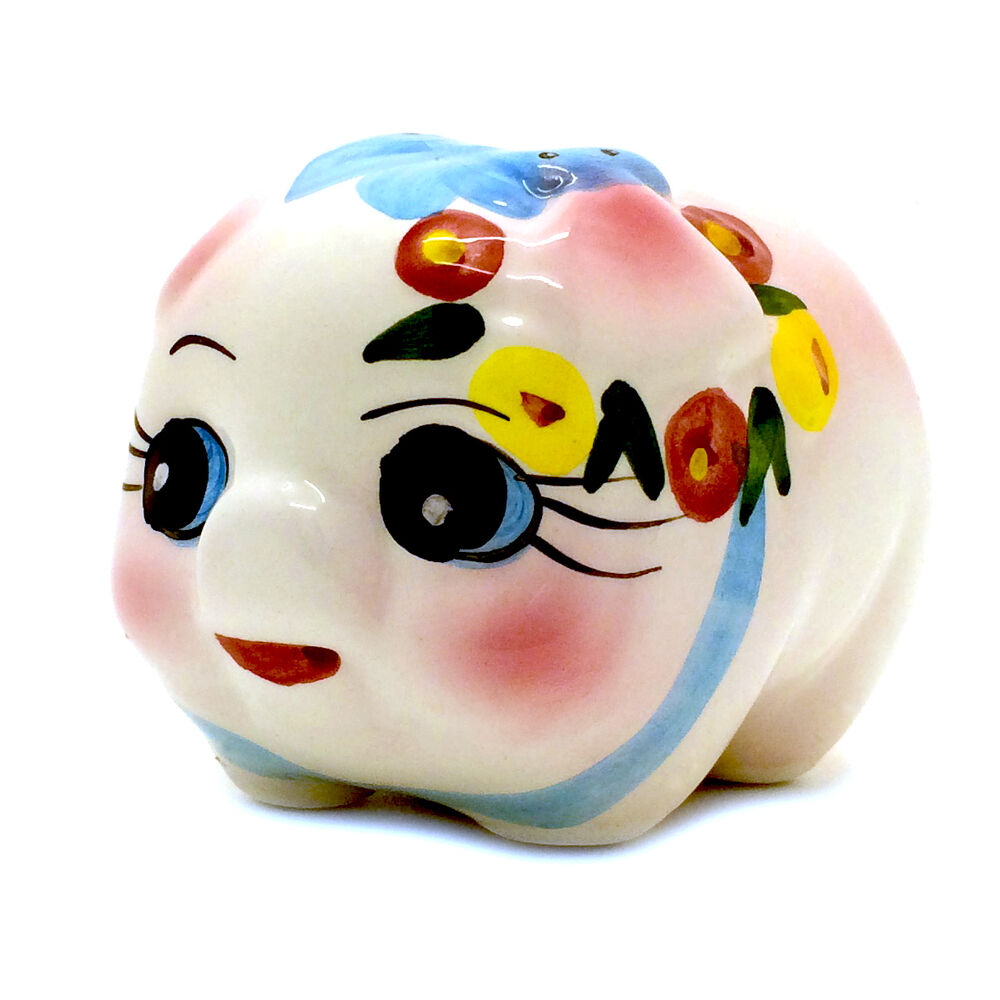 Mini porcelain ceramic piggy bank girls 3 x 4 ebay for Mini piggy banks