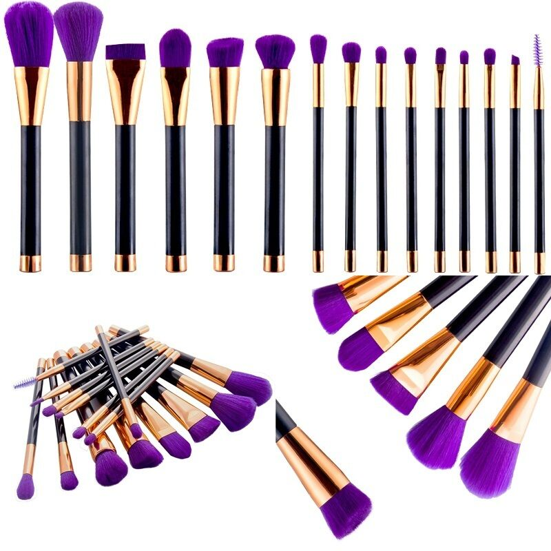15tlg professionelle kosmetik pinsel makeup puder brush schminkpinsel set ebay. Black Bedroom Furniture Sets. Home Design Ideas