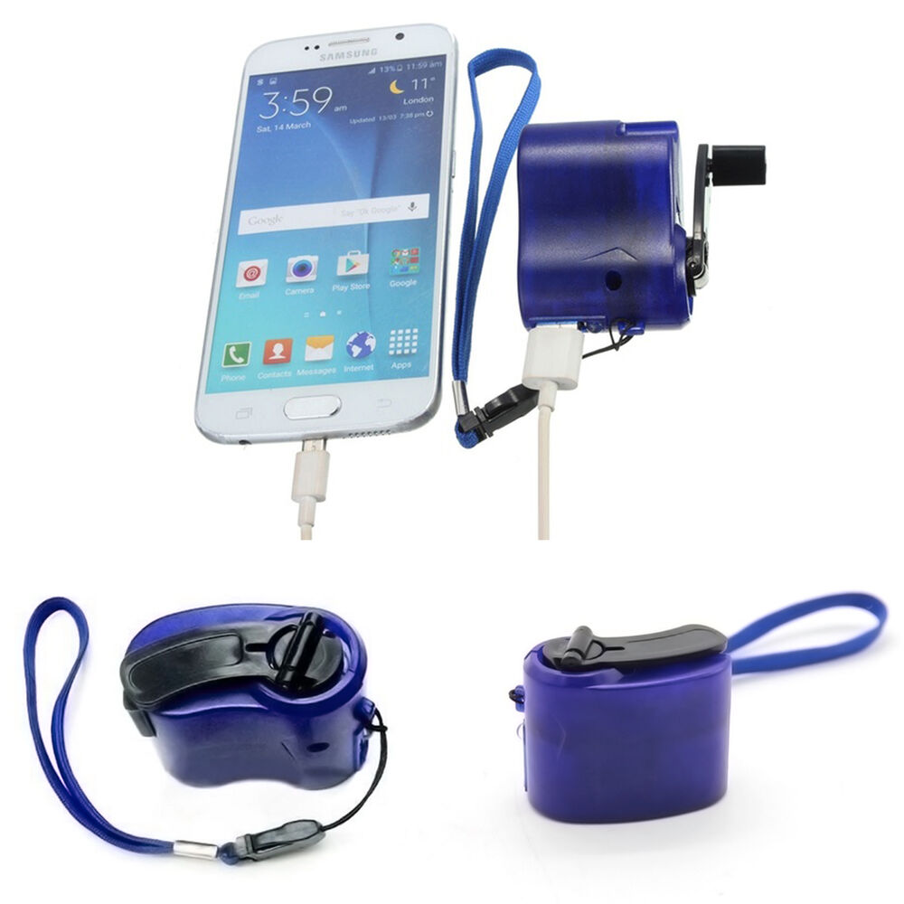 Phone Emergency Charger USB Hand Crank Manual Dynamo For ...
