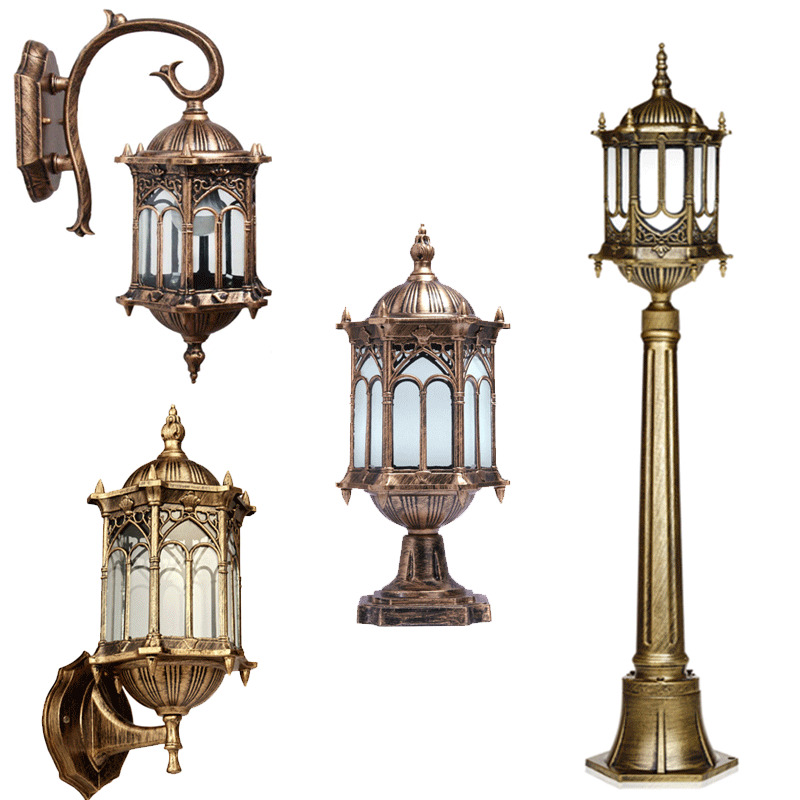 Unusual Outside Wall Lights : Exterior Unique Outdoor Wall Sconce Porch Light Post Lights Pillar Lantern eBay
