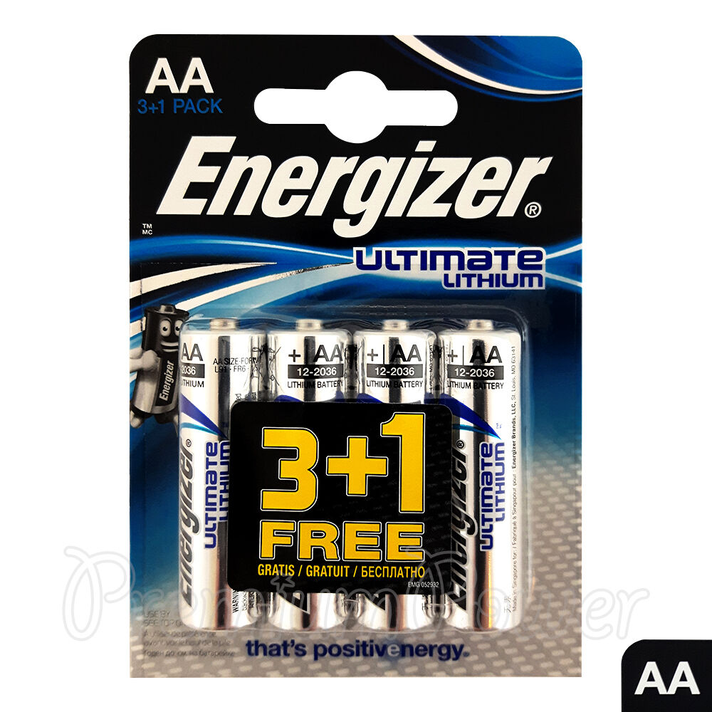 4 x energizer ultimate lithium aa batteries 1 5v l91 lr6 mn1500 camera exp 2036 ebay. Black Bedroom Furniture Sets. Home Design Ideas