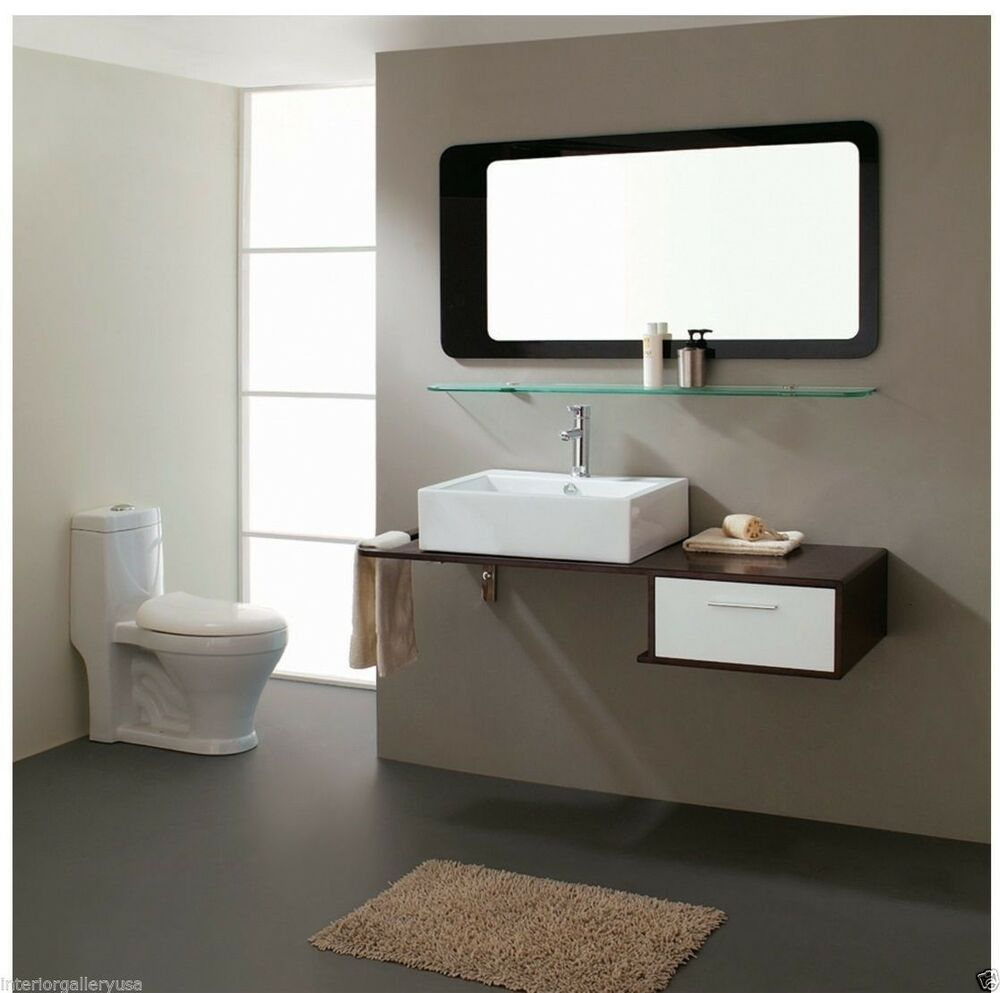 Bathroom vanity modern bathroom vanity single sink moderno 43 ebay for Contemporary bathroom sinks and vanities