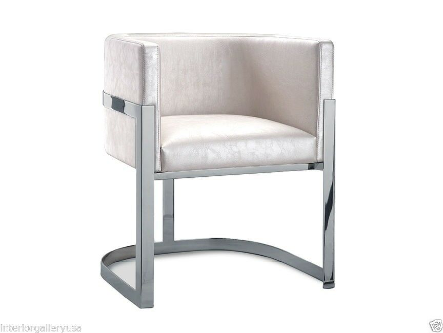 Arm Chair Modern Dining Room Arm Chair Polished Chrome