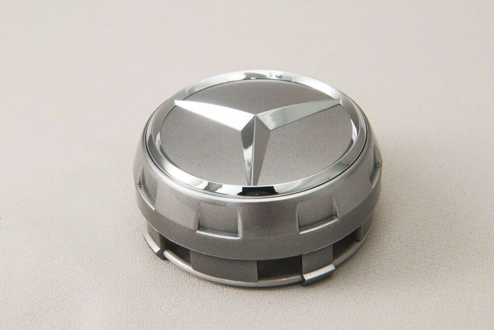 Set of 4 silver raised center wheel caps for mercedes amg for Mercedes benz center cap
