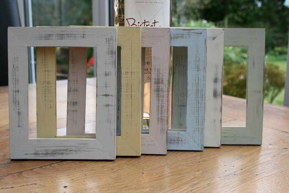 handmade small photo picture frame shabby chic vintage. Black Bedroom Furniture Sets. Home Design Ideas