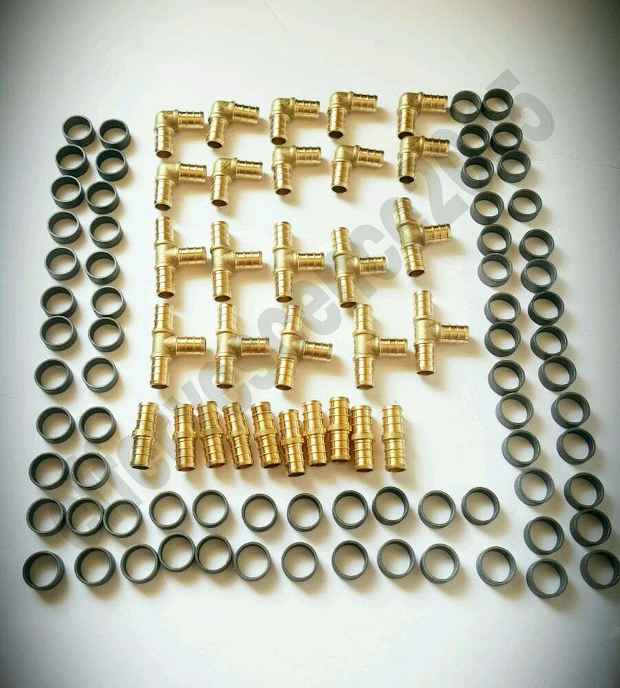 Quot pex crimp fittings w copper rings tees