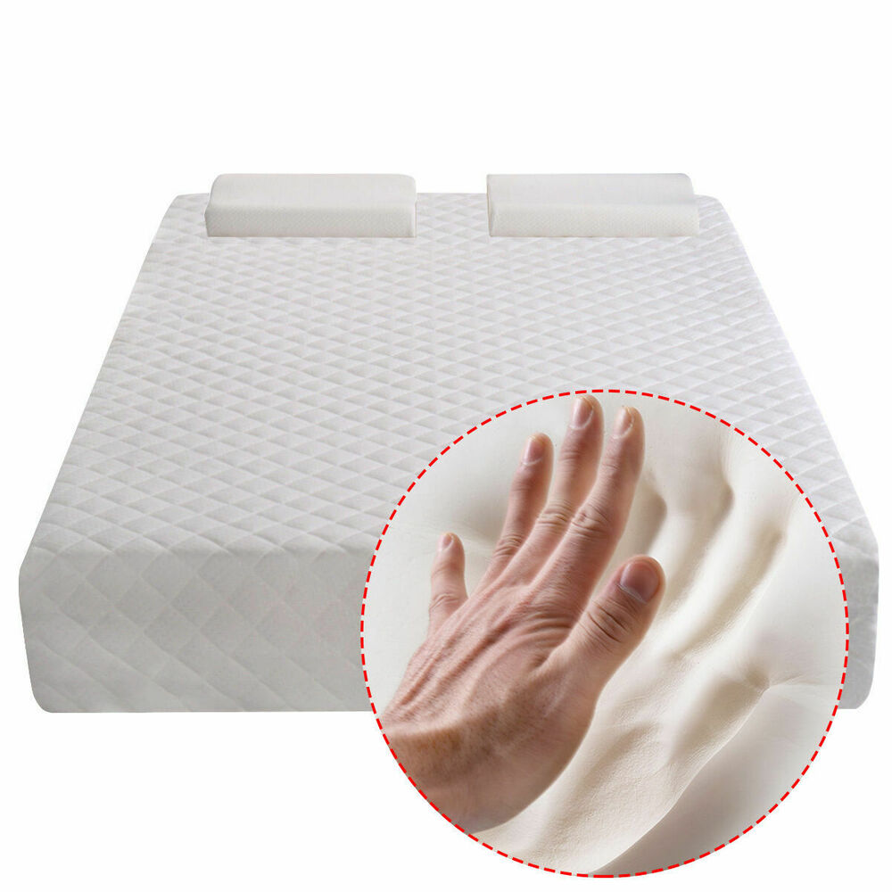 "Queen Size 10"" Memory Foam Mattress Pad Bed Topper 2 FREE"