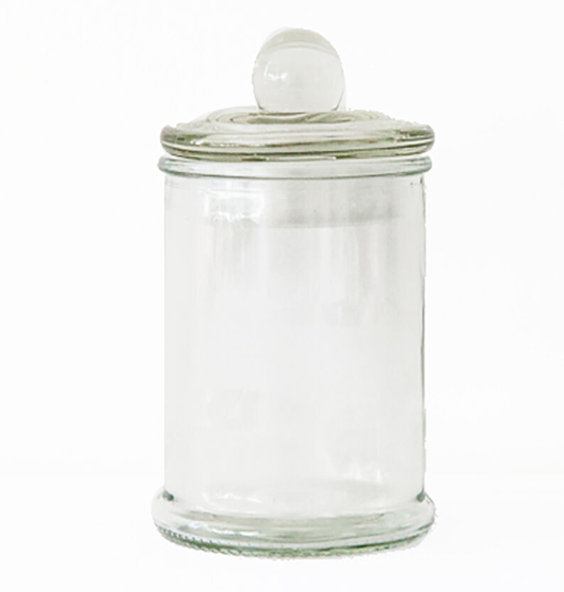 set of 6 mini french apothecary glass favor candy macaron treat jars w lid 150ml ebay. Black Bedroom Furniture Sets. Home Design Ideas