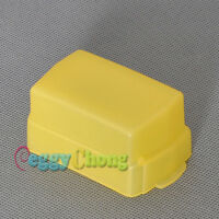 Yellow Flash Bounce Softbox Diffuser Cap Cover for Canon 580EX 580 EX II