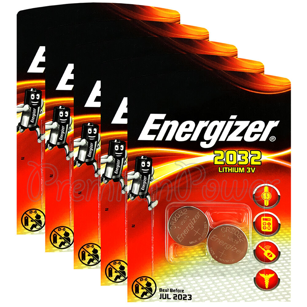 10 x energizer lithium cr2032 batteries 3v coin cell. Black Bedroom Furniture Sets. Home Design Ideas