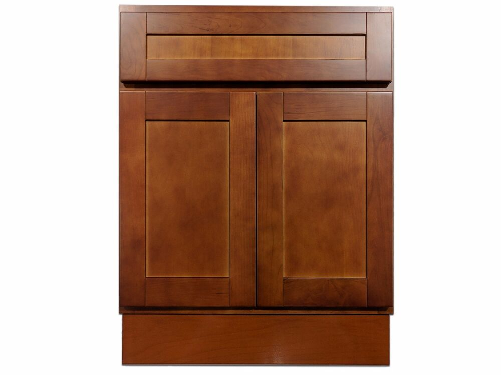 cherry bathroom cabinet 24 quot cherry bathroom vanity cabinet ebay 13483