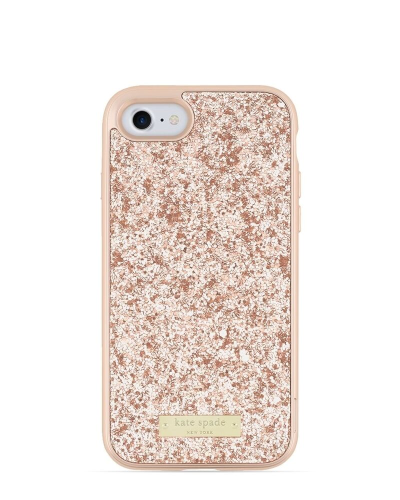 Kate Spade Exposed Glitter Case for iPhone 7 - Rose Gold - : eBay