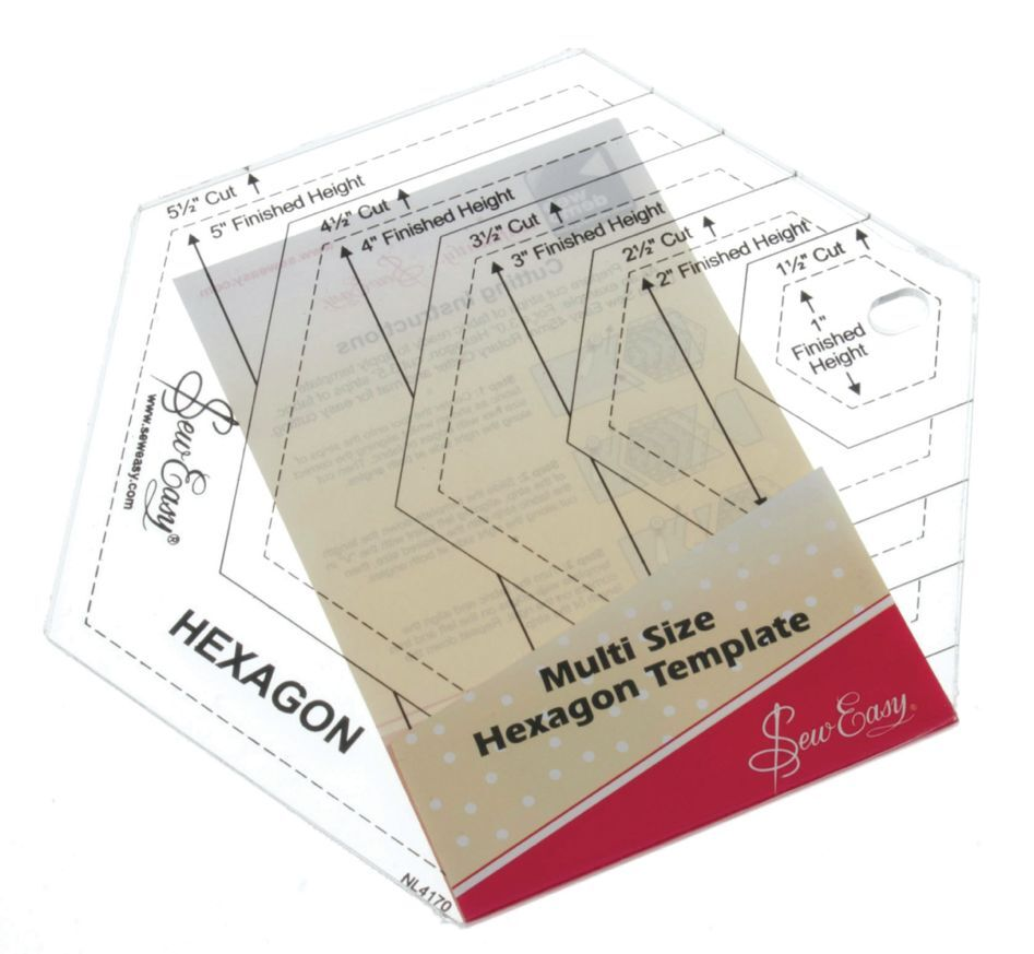Sew Easy Patchwork Quilting Ruler Multi-size Diamond Template