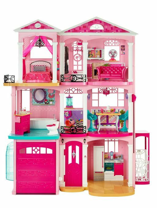 barbie haus traumvilla puppenhaus puppen haus mattel mit zubeh r puppenstube neu ebay. Black Bedroom Furniture Sets. Home Design Ideas