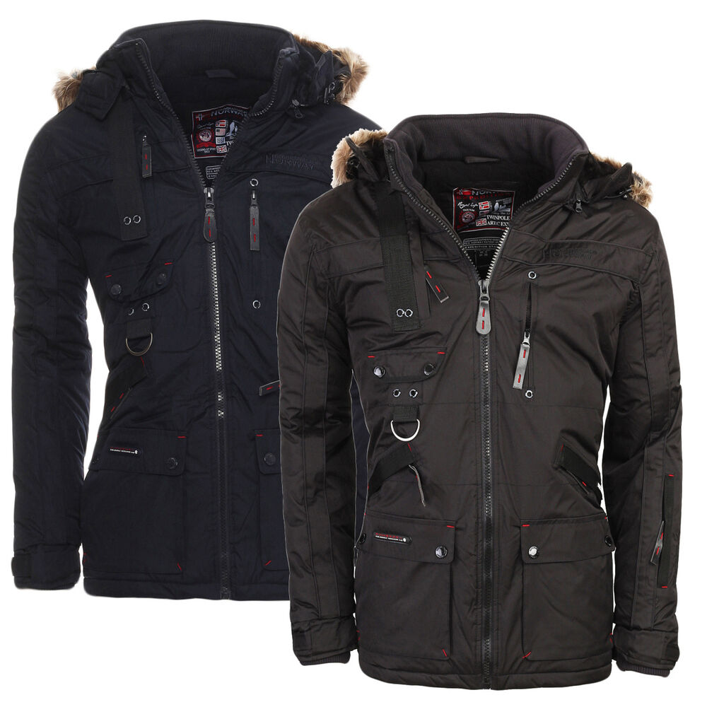 geographical norway warme gef tterte herren chir alaska winterjacke jacke parka ebay. Black Bedroom Furniture Sets. Home Design Ideas