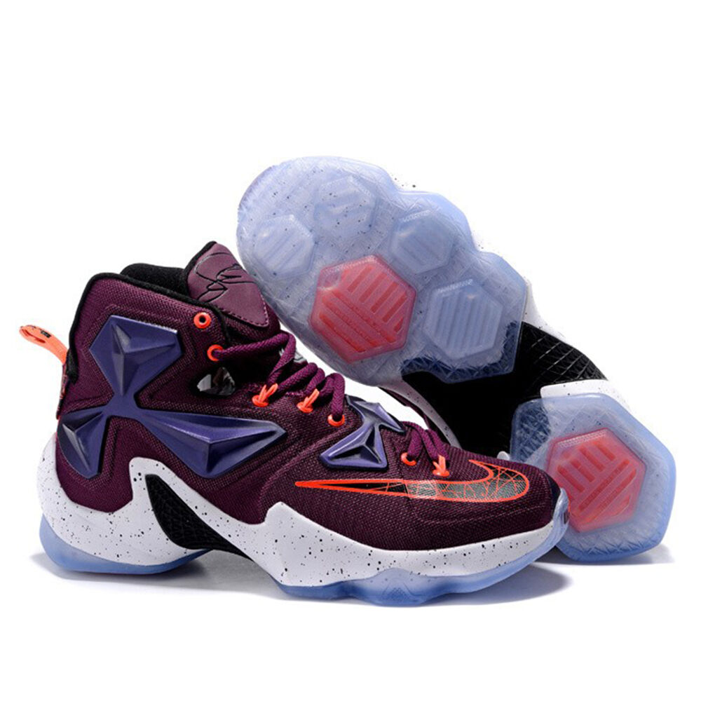 b25b04061131 Details about Nike Lebron James XIII 13 Mulberry Black Pure Platinum Vivid  Purple 807219 500