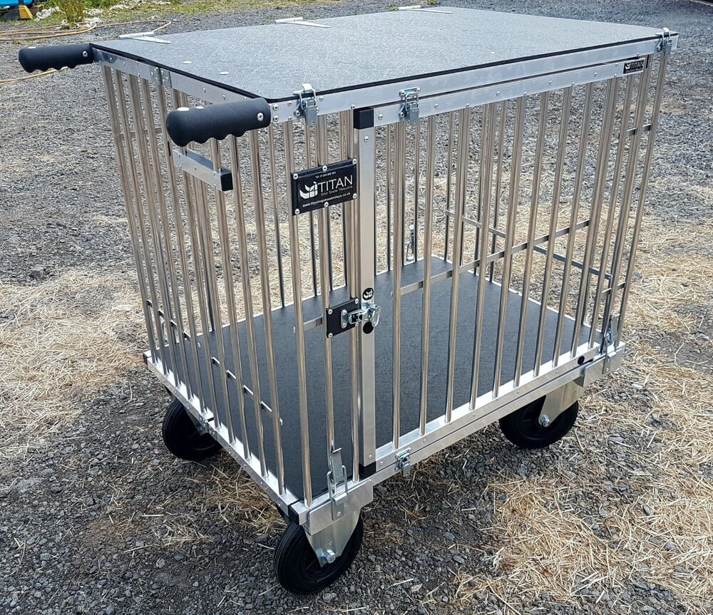 Titan 1 Berth Large Aluminium Dog Show Trolley With 8 Quot All