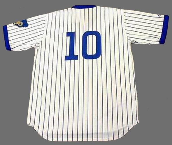 finest selection 81582 5e46f Ron Santo Chicago Cubs Majestic Cooperstown Throwback Home ...