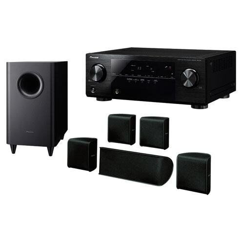 pioneer htp 071 vsx 321 k p home theater system with 600w. Black Bedroom Furniture Sets. Home Design Ideas