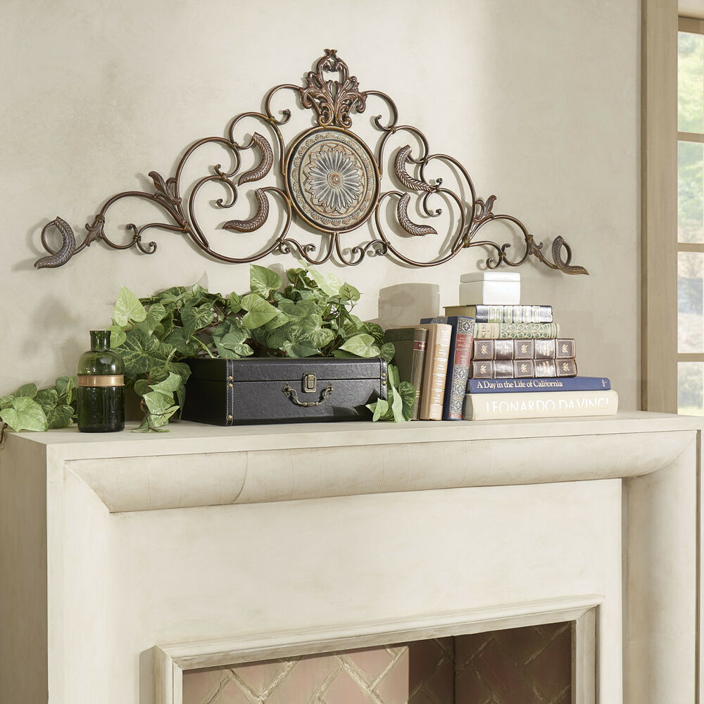 classic tuscan wrought iron metal wall decor rustic antique indoor outdoor 780347382419 ebay. Black Bedroom Furniture Sets. Home Design Ideas