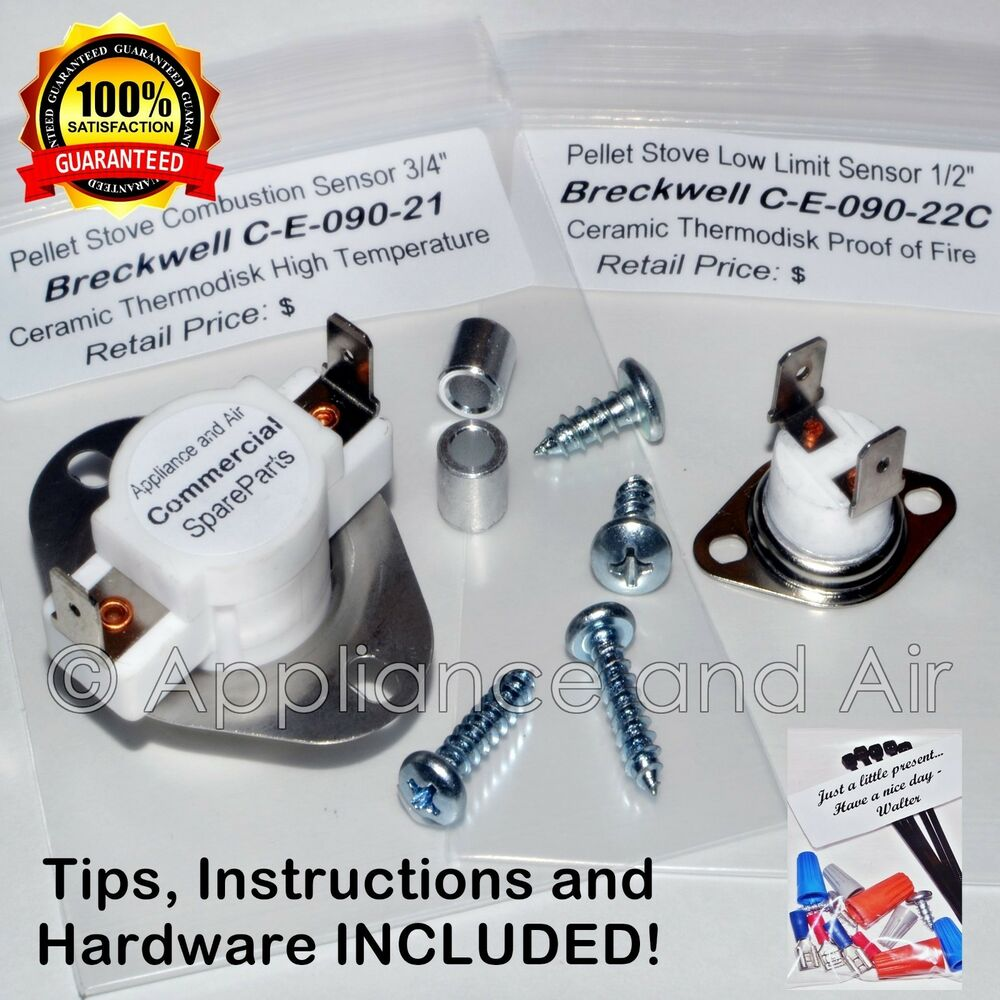 Breckwell Pellet Stove CERAMIC Limit Switch Kit C E 090 21